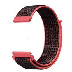 Alzara - Nylonrem för Fitbit Versa - Röd/Svart