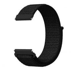 Alzara - Nylonrem för Fitbit Versa - Svart