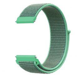 Alzara - Nylon rem för Fitbit Versa - Baby Green