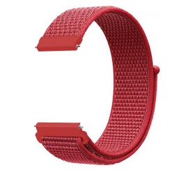 Alzara - Nylonrem för Fitbit Versa - Röd