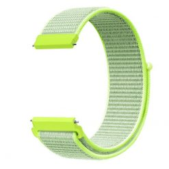 Alzara - Nylonrem för Fitbit Versa - Blixt gul