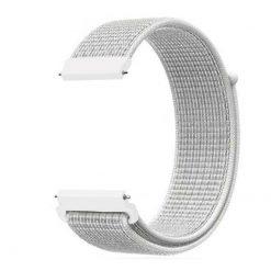 Alzara - Nylonrem för Fitbit Versa - Silver