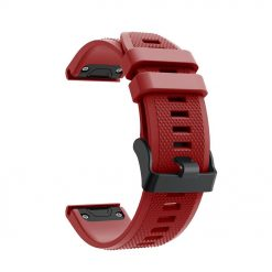 Avatar - Garmin Fenix 5/5 Plus Silikonrem - Röd