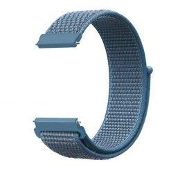 Alzara - Nylonrem för Fitbit Versa - Blå