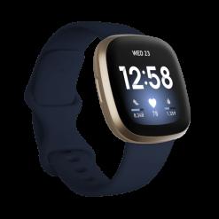 Fitbit - Versa 3 Smartwatch - Midnatt/Ljust guld/aluminium