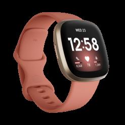 Fitbit - Versa 3 Smartwatch - Ljusrosa/Ljust Guld/Aluminium