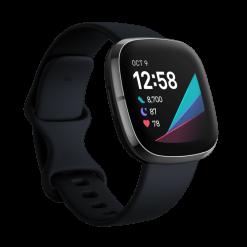 Fitbit - Sense - kol/grafit rostfritt stål